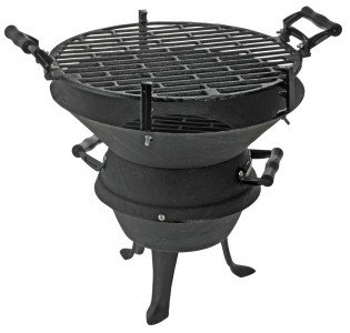 Holzkohle Grill aus Gusseisen